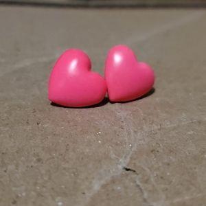 (3 for $10) Neon Pink Heart Earrings